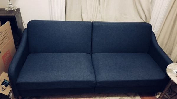 Navy Blue Mid Century Style Sleeper Sofa Furniture In Brooklyn Ny