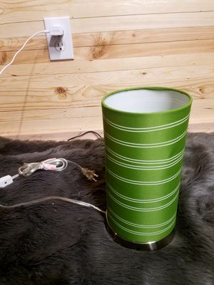 Light with Green lamp shade new