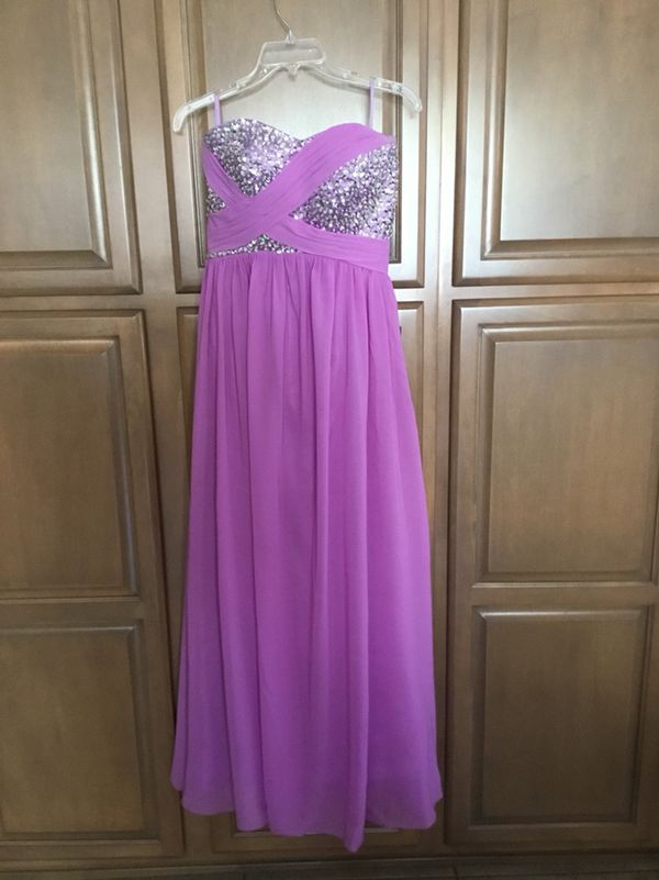 90769c0a2249f Purple lavender sequined formal prom dress - Size 4-6 Worn once for prom  (Clothing   Shoes) in Phoenix