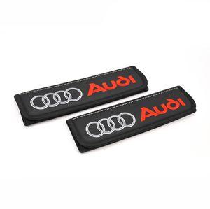 Audi seat belt covers shoulder pads Interior accessories with emblem