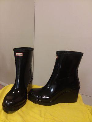Hunter botas, puedes usar con plantillas o sin ellas. Talla us8