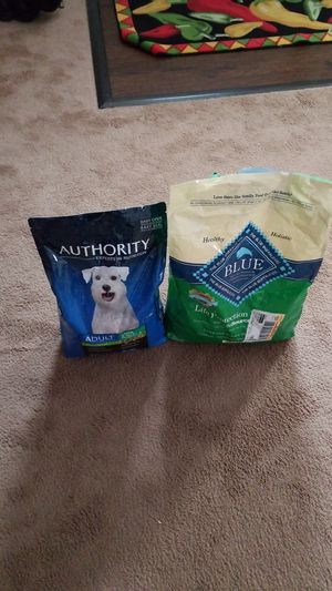 Authority Dog Food and Blue