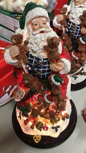 Light-Up Santa Claus Ceramic Figure