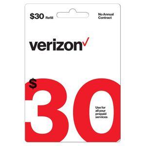 $30 Verizon Prepaid Phone Card