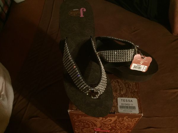 """20d467c71642d4 Justin Ladies Wedge Bling """"Tessa """" Sandals Size 11 (Clothing   Shoes) in  Glendale"""