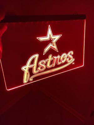 HOUSTON ASTROS LOGO LED LIGHT SIGN. BRAND NEW!