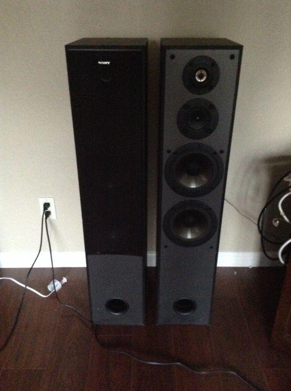 sony tower speakers. sony tower speakers model ss-mf515