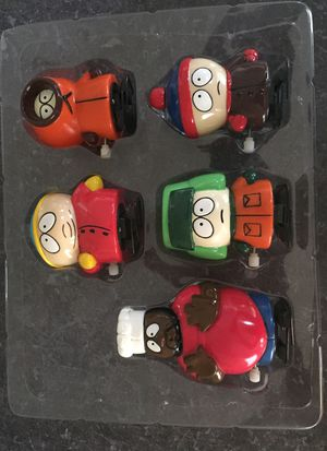 South Park collectors pack wind ups in a box but the box is not on great shape. The figures are