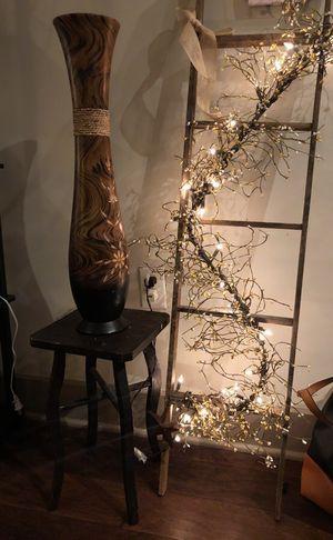 Handmade stool in Cherry brown