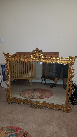 VINTAGE HAND CARVED Gold Gilded Mirror