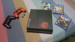 PS4 500GB, 2 Controllers, Pair of Control Freaks and 3 Games