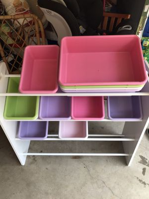 Toy Bins and Shelf in Excellent Condition!