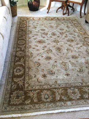 Ethan Allen hand woven wool rug 10x7