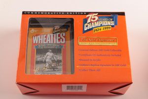 Mini Wheaties boxes collectibles- Mark McGuire, Jackie Robinson, John Elway and Lou Gehrig