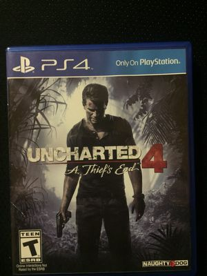 Uncharted 4 for PS4 in mint condition