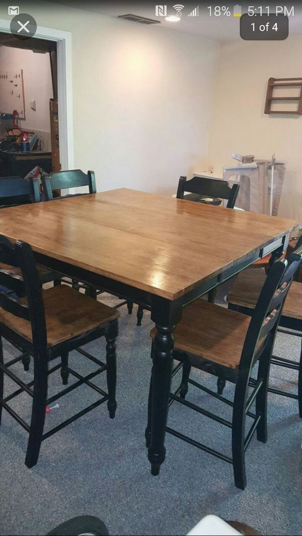 6 person bar height dining table and chairs furniture in puyallup wa offerup - Person dining table and chairs ...
