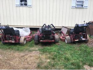 3 Exmark walkbehinds for sale hydro
