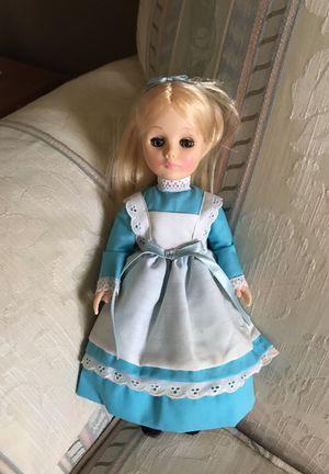 "Effanbee Vintage #1175 Alice In Wonderland w/ Sleeper Eyes 11"" Vinyl Doll EUC"