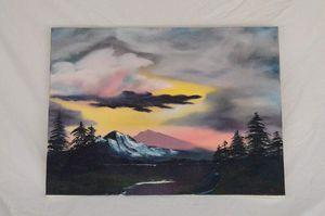 "Summer glow (Oil on canvas 18"" x 24"")"