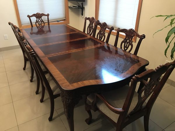Macys Gallery Dining Room Table 8 Chairs Furniture In Brooklyn NY