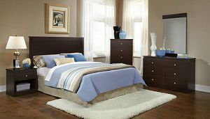 6 Piece Cherry Espresso Bedroom Set