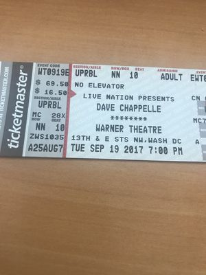 Dave Chappelle 2 tickets
