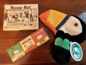 Golf: new golf putter cover, new gag golf balls and vintage style playing cards