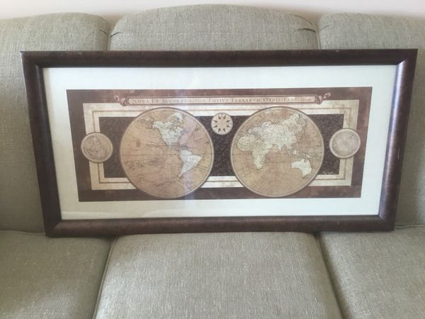 Framed map from world market electronics in clarksville tn offerup framed map from world market gumiabroncs Gallery
