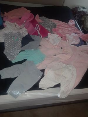 3-6 months never worn my daughter outgrew the clothes to fast .