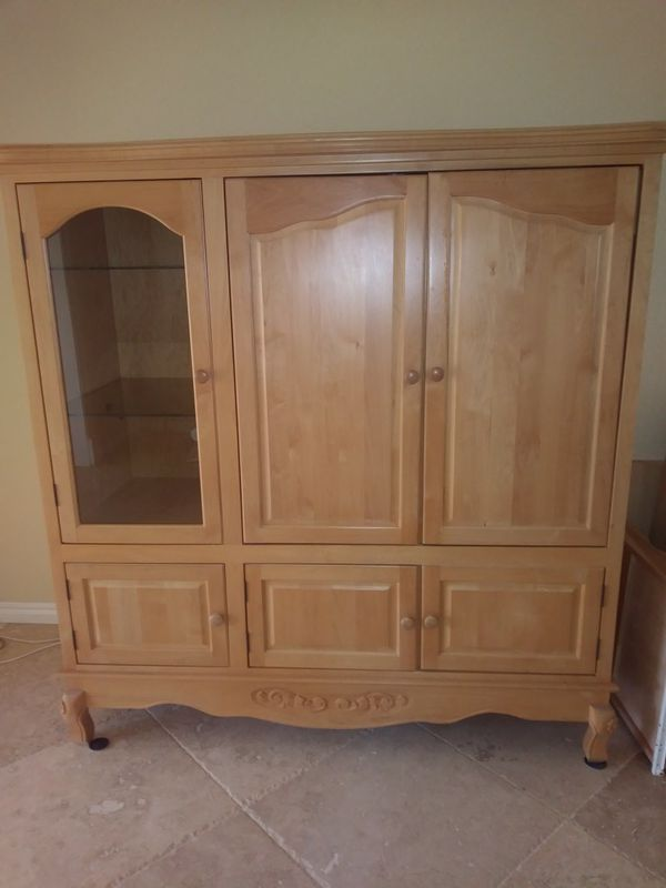 New wall unit wood very nice (Furniture) in Boca Raton, FL