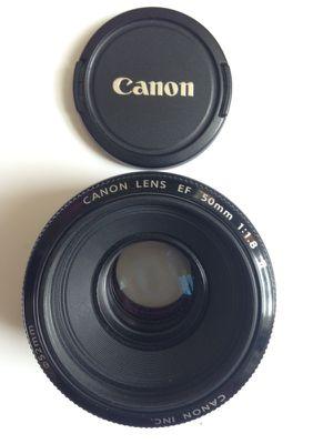 Canon Lens EF 50mm 1:1.8