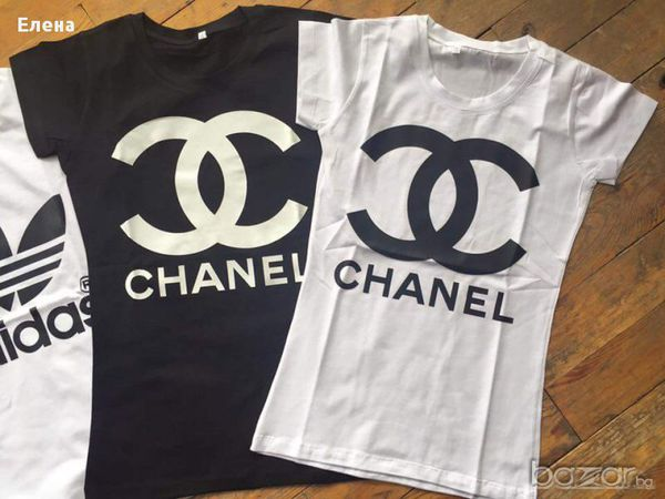Black High Quality Chanel T Shirt Logo Shirt S Size 35