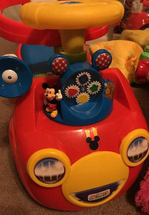 Used Mickey Mouse car! Son doesn't fit! Bought at toys r us for $70.
