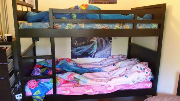 Ikea Norddal Bunk Bed Twin Black (Furniture) in Hayward, CA