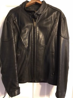 Leather Motorcycle Jacket, size 42