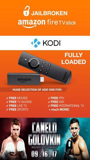 JAILBROKEN Amazon Fire Stick 🔥|| FULLY LOADED w/ Kodi v17.4 & Mobdro 🎥|| WATCH Fight Canelo vs Golovkin GGG 📺