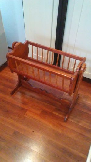Solid wood Doll cradle for toy dolls