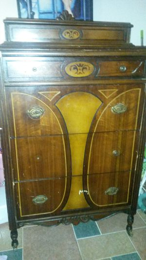 Beautiful solid cherry wood antique chest