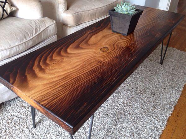 Torched Deodar Cedar Slab Coffee Table Furniture In