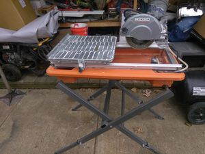 Ridgid tile saw in perfect condition price is firm