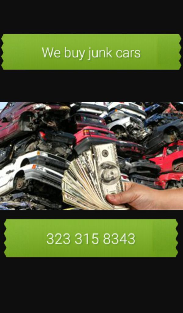We buy your junk vehicles (Cars & Trucks) in Los Angeles, CA