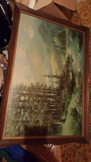 Large forest painting