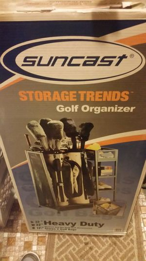 New Suncast Golf Club n Bag organizer closet