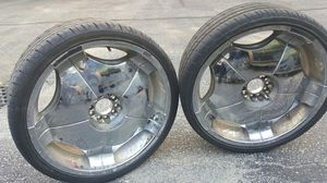 """24"""" rims with tires"""