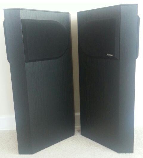 vintage bose 401 direct reflecting tower speakers audio. Black Bedroom Furniture Sets. Home Design Ideas