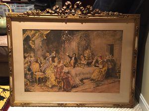 Vintage framed print of Wedding Toast