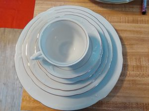 Southington by Baum..made in Poland. Fine China pattern of golden Rhapsody..was retired in the 60s..