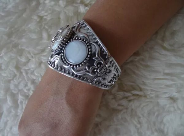 Iran Persian Stainless Steel & Nickel Farvahar Bracelet