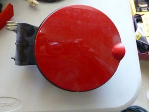 2004 Mini Cooper convertible gas lid cover Tartan red