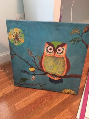 Owl Wall Picture 20x20